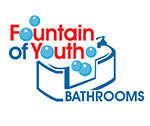 fountain of youth bathroom logo